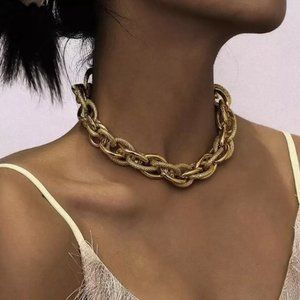 NEW Gold Chunky Link Chain Necklace